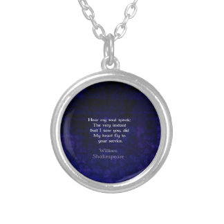 William Shakespeare Romantic Love Quote Silver Plated Necklace