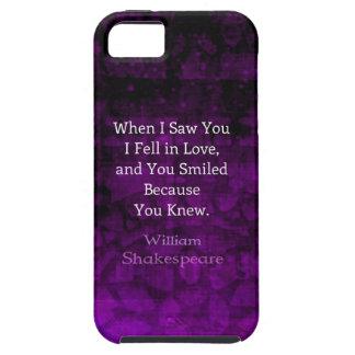 William Shakespeare Romantic Love Saying iPhone 5 Case