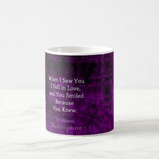 William Shakespeare Romantic Love Saying Classic White Coffee Mug