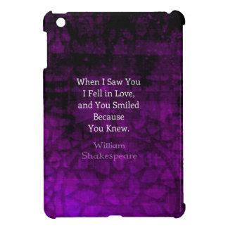 William Shakespeare Romantic Love Saying iPad Mini Cases