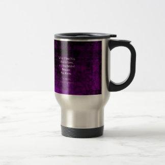 William Shakespeare Romantic Love Saying Travel Mug