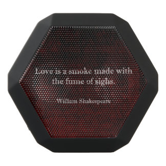 William Shakespeare Romeo and Juliet LOVE Quote Black Bluetooth Speaker
