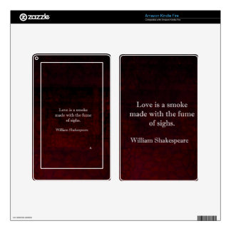 William Shakespeare Romeo and Juliet LOVE Quote Decal For Kindle Fire