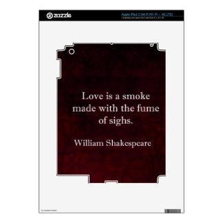 William Shakespeare Romeo and Juliet LOVE Quote iPad 3 Decals
