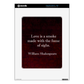 William Shakespeare Romeo and Juliet LOVE Quote iPad Decal
