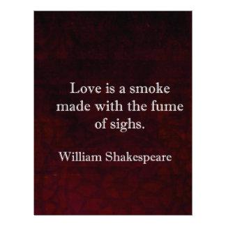 William Shakespeare Romeo and Juliet LOVE Quote Letterhead