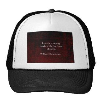 William Shakespeare Romeo and Juliet LOVE Quote Trucker Hat