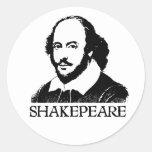 William Shakespeare Round Sticker