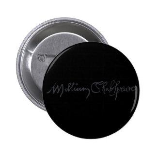 William Shakespeare Signature Button