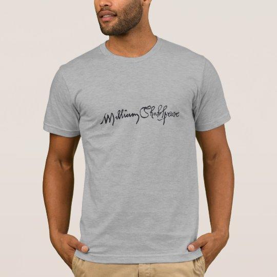 William Shakespeare Signature T-Shirt