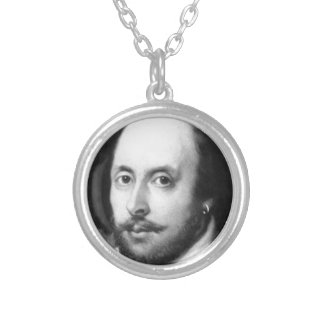 William Shakespeare Silver Plated Necklace