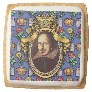 William Shakespeare Square Shortbread Cookie
