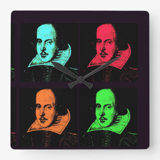 William Shakespeare Square Wall Clock