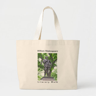 William Shakespeare Statue in Central Park Large Tote Bag