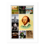 William Shakespeare & Stratford-upon-Avon Postcard