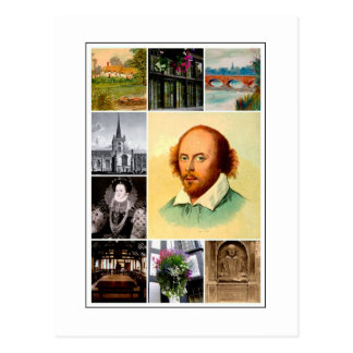 William Shakespeare & Stratford-upon-Avon Postcard