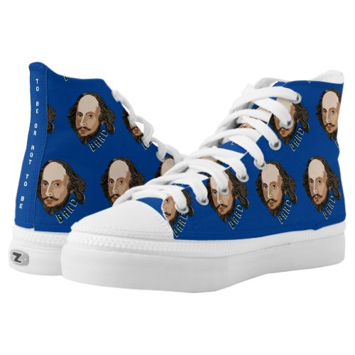 William Shakespeare The Bard Unique High-Top Sneakers