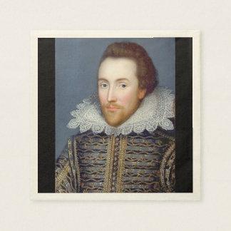 William Shakespeare Theme Paper Napkins