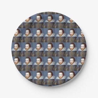 William Shakespeare Theme Paper Plates