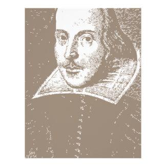 William Shakespeare Warm Gray Customized Letterhead