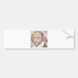 william shakespeare - watercolor portrait.1 bumper sticker