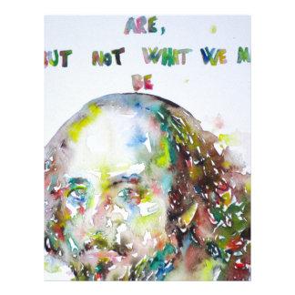 william shakespeare - watercolor portrait.2 letterhead