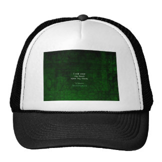 William Shakespeare Whimsical LOVE Quote Hats