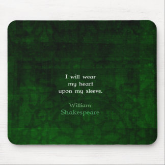 William Shakespeare Whimsical LOVE Quote Mouse Pad