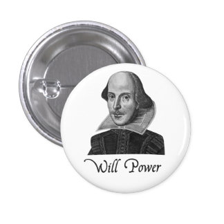 William Shakespeare Will Power Button