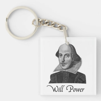 William Shakespeare Will Power Keychain