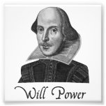 William Shakespeare Will Power Photograph