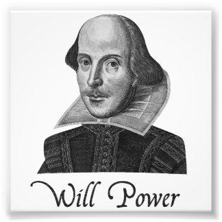 William Shakespeare Will Power Photograph