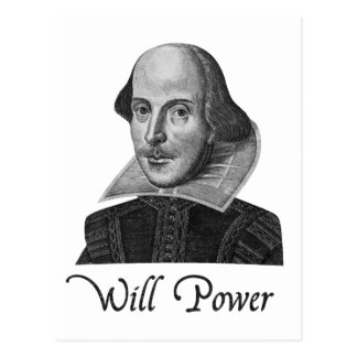 William Shakespeare Will Power Post Cards