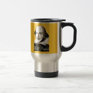 William Shakespeare Will Power T shirt Travel Mug