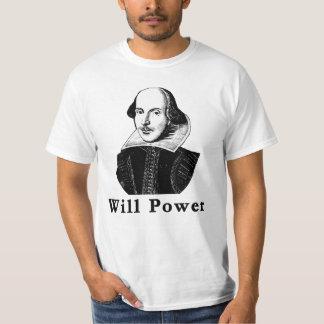 William Shakespeare WILL POWER Tshirts