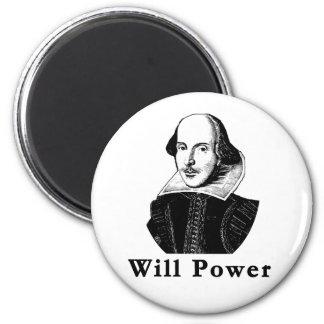 William Shakespeare WILL POWER Tshirts 2 Inch Round Magnet