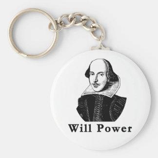 William Shakespeare WILL POWER Tshirts Basic Round Button Keychain