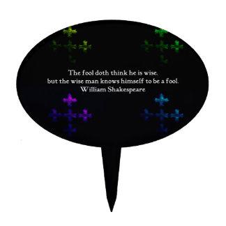 William Shakespeare Wisdom Quotation Saying Cake Picks