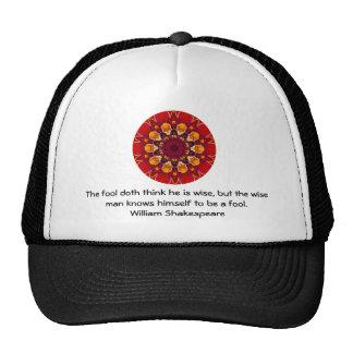 William Shakespeare Wisdom Quotation Saying Mesh Hats