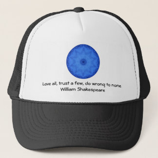 William Shakespeare Wisdom Quotation Saying Trucker Hat