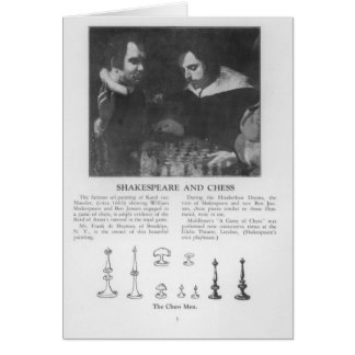 William Shakespeare y Ben Jonson Tarjeta De Felicitación
