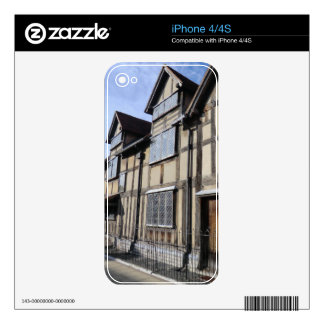 William Shakespeare's House, Stratford Upon Avon Skin For The iPhone 4