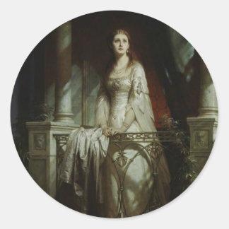 William Shakespeare's Juliet Classic Round Sticker