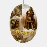 William Shakespeare's Macbeth Double-Sided Oval Ceramic Christmas Ornament