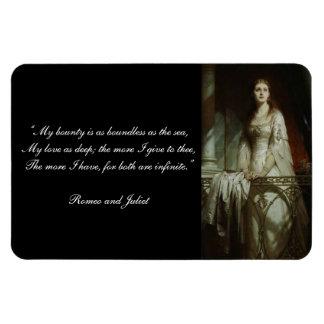 William Shakespeare's Romeo and Juliet Quote Rectangular Photo Magnet
