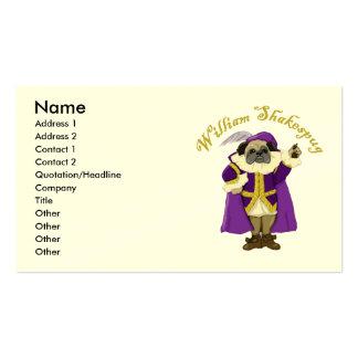 William Shakespug Business Cards