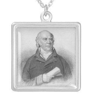 William Sharp, engraved by J. Thomson Silver Plated Necklace