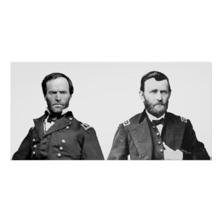 William Sherman and U S Grant Print