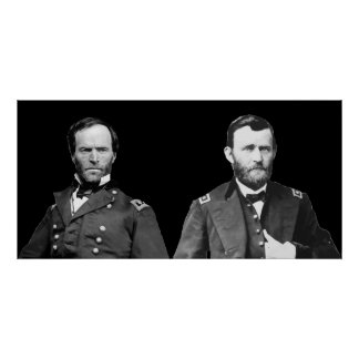 William Sherman and U S Grant Poster