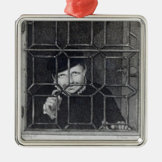 William Sommers, engraved by R. Clamp, 1794 Square Metal Christmas Ornament